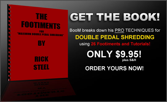 Double Pedal Drumming tutorials book